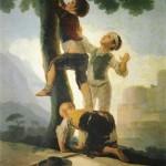 Niños trepando a un árbol